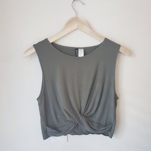 Divided • Army Green tank top M
